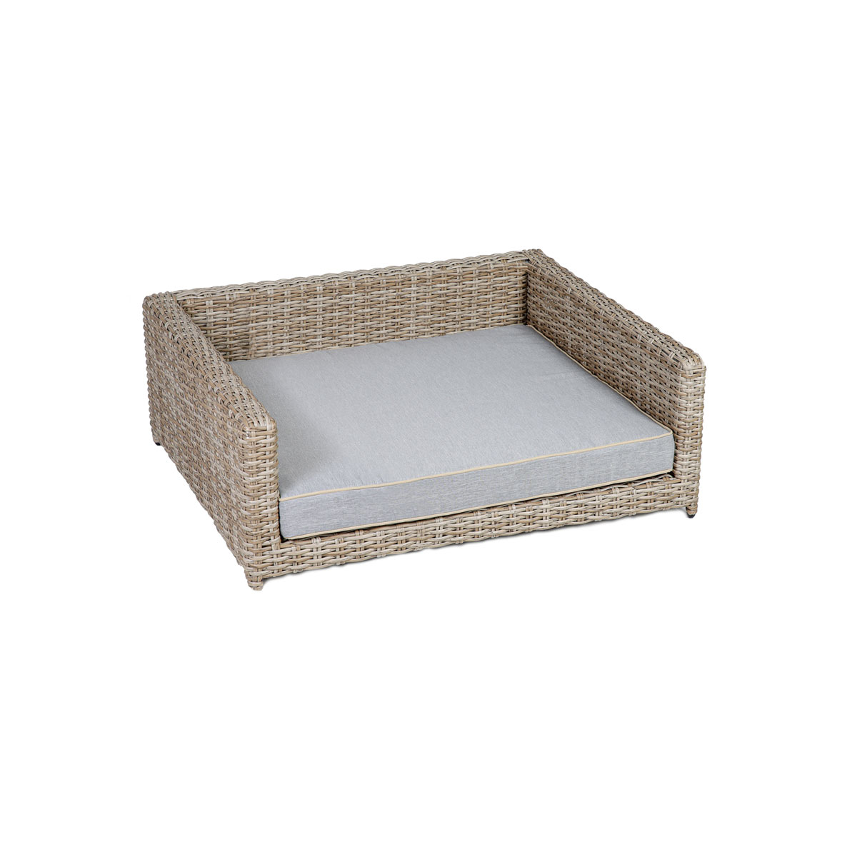 greenmotion pet Hunde-Couch M 80x60x30 cm, Rattanoptik beige