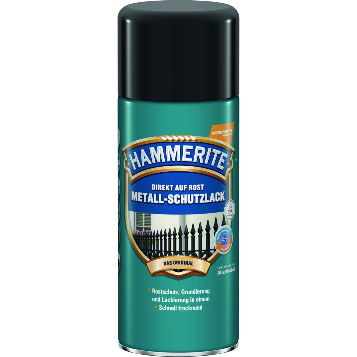 Hammerite Metall-Schutzlack-Spray, matt-schwarz, 400 ml