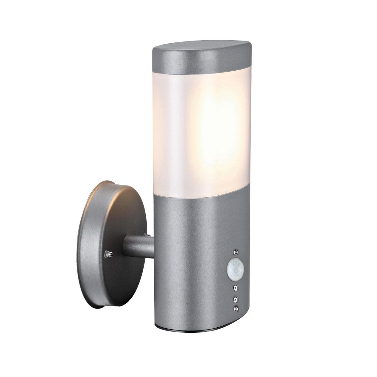 """Außenwandleuchten - LED Außenwandleuchte """"Mira"""", mit Bewegungsmelder, grau  - Onlineshop Hellweg"""
