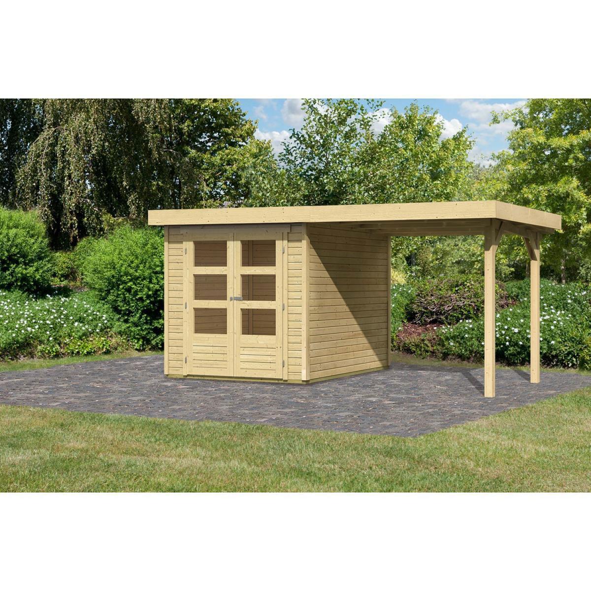 Woodfeeling Askola 2 Gartenhaus mit Schleppdach