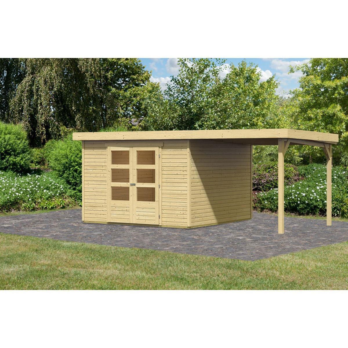 Woodfeeling Askola 5 Gartenhaus mit Schleppdach