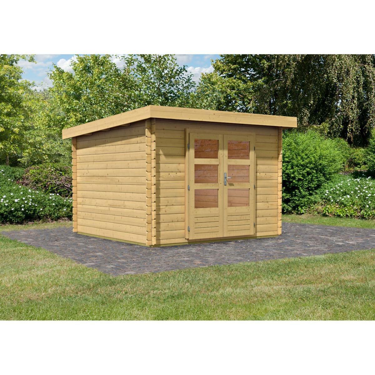 Woodfeeling Bastrup 5 Gartenhaus, naturbelassen