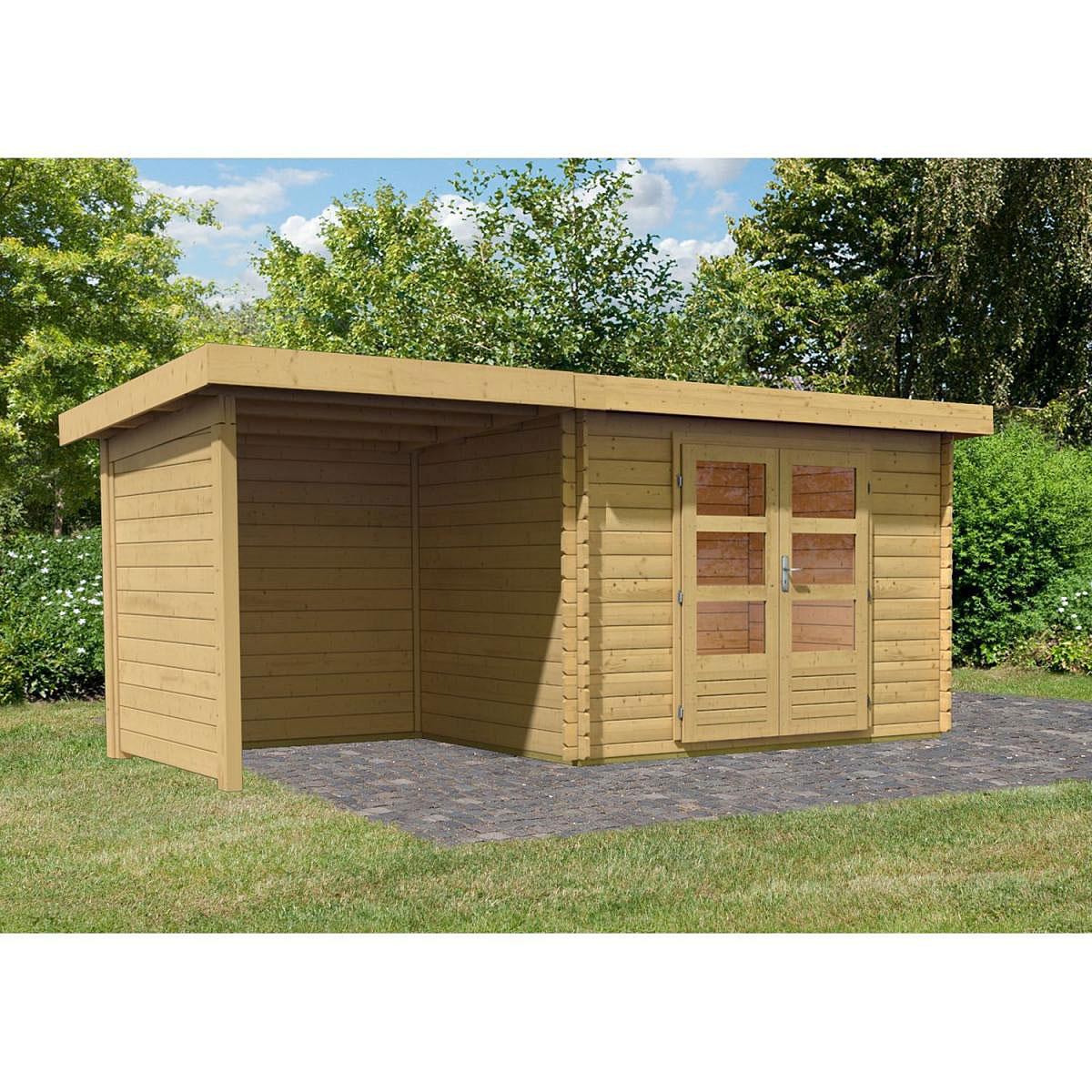 Woodfeeling Bastrup 3 Gartenhaus, inkl. Schleppdach, Seiten- und Rückwand