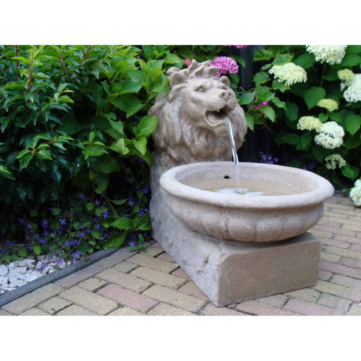 """Gartendekoration - Wasserspiel Set """"Basel"""" inkl. Pumpe und LED Beleuchtung  - Onlineshop Hellweg"""