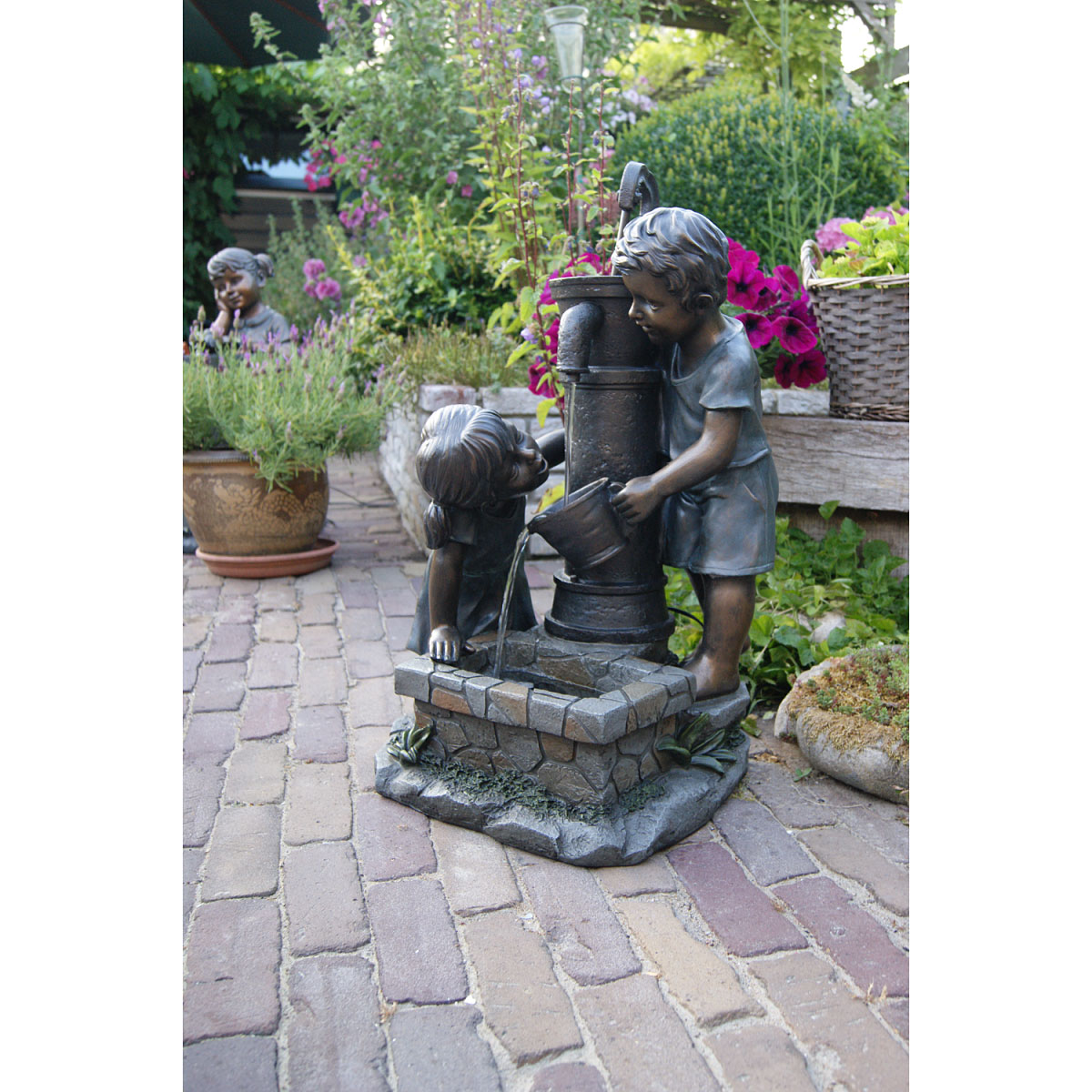 "Gartendekoration - Wasserspiel Set ""Atlanta"" inkl. Pumpe  - Onlineshop Hellweg"