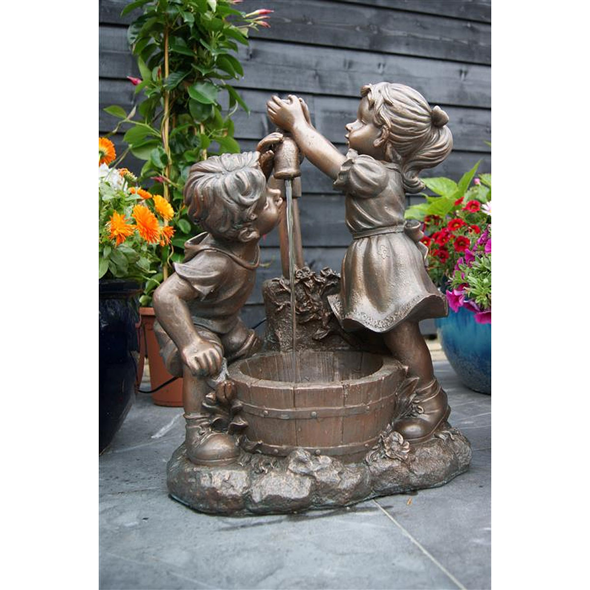 "Gartendekoration - Wasserspiel Set ""Memphis"" inkl. Pumpe  - Onlineshop Hellweg"