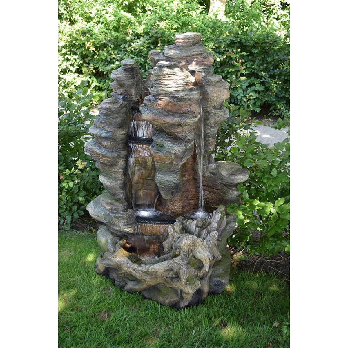 """Gartendekoration - Wasserfall Set """"Miami"""" inkl. Pumpe und LED Beleuchtung  - Onlineshop Hellweg"""