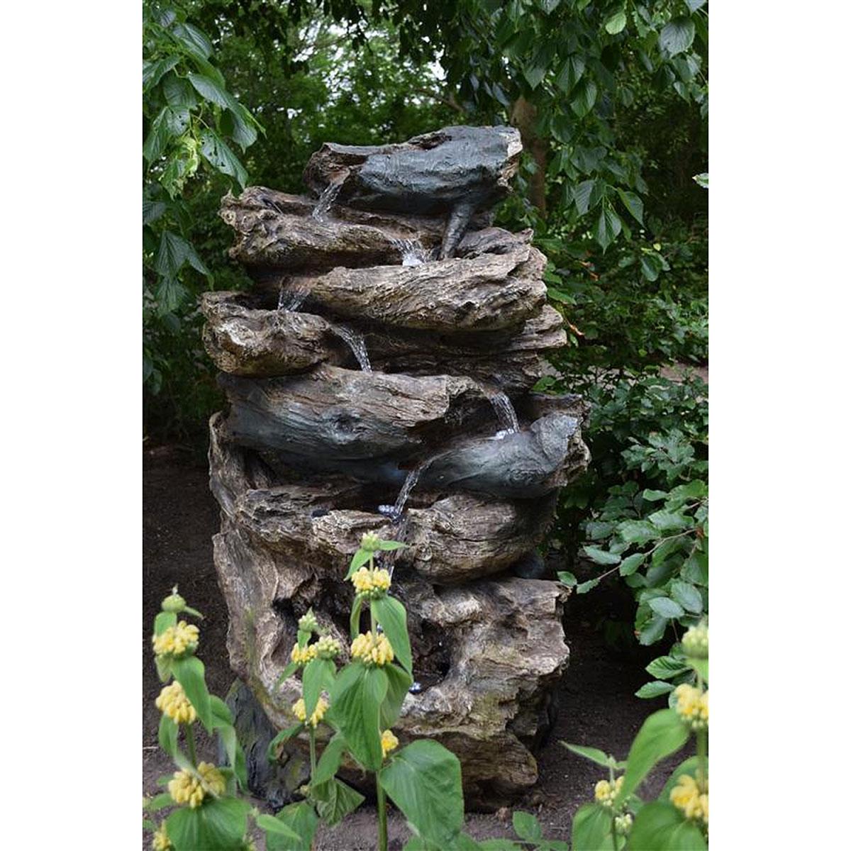 """Gartendekoration - Wasserfall Set """"Oakland"""" inkl. Pumpe und LED Beleuchtung  - Onlineshop Hellweg"""
