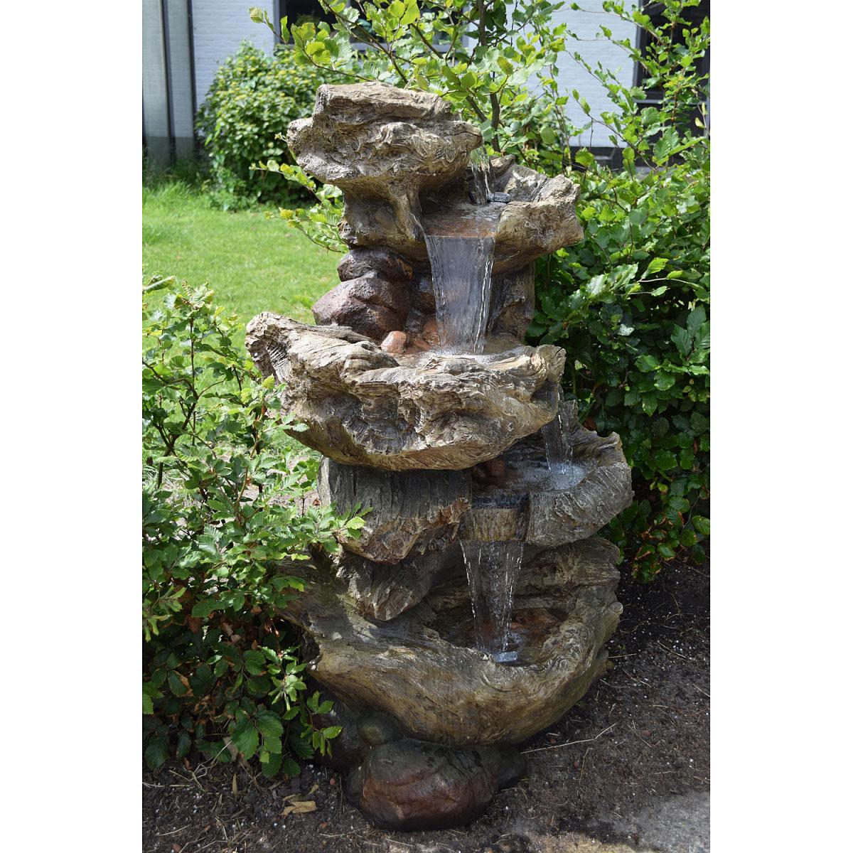 """Gartendekoration - Wasserfall Set """"Norfolk"""" inkl. Pumpe und LED Beleuchtung  - Onlineshop Hellweg"""