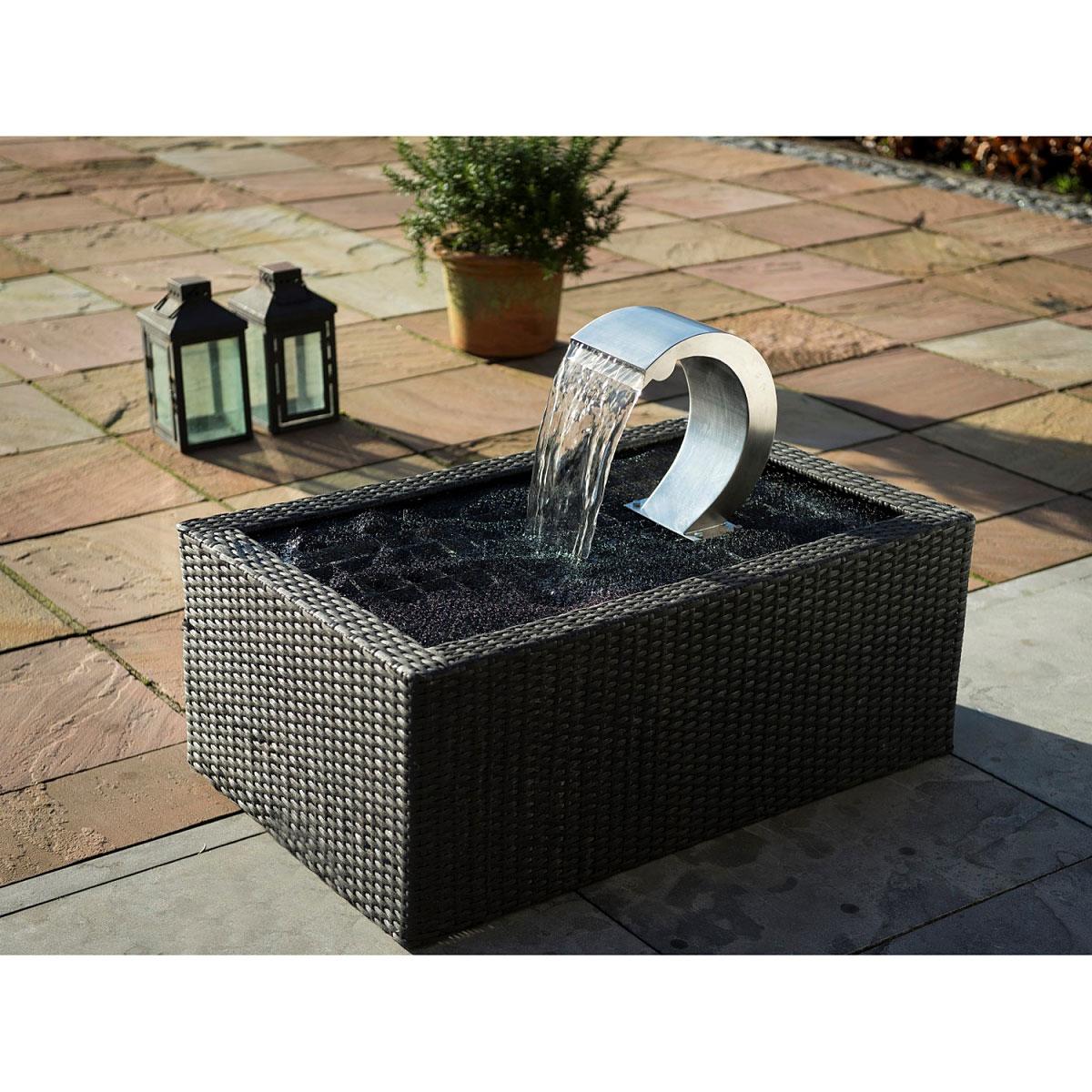 "Gartendekoration - Wasserfall Set ""Mamba"" inkl. LED Beleuchtung  - Onlineshop Hellweg"