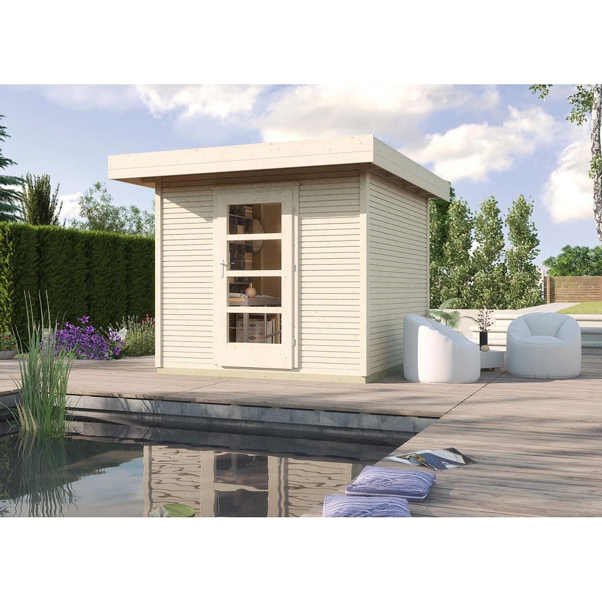 Weka Holz-Gartenhaus wekaLine Natur 240 cm x 235 cm
