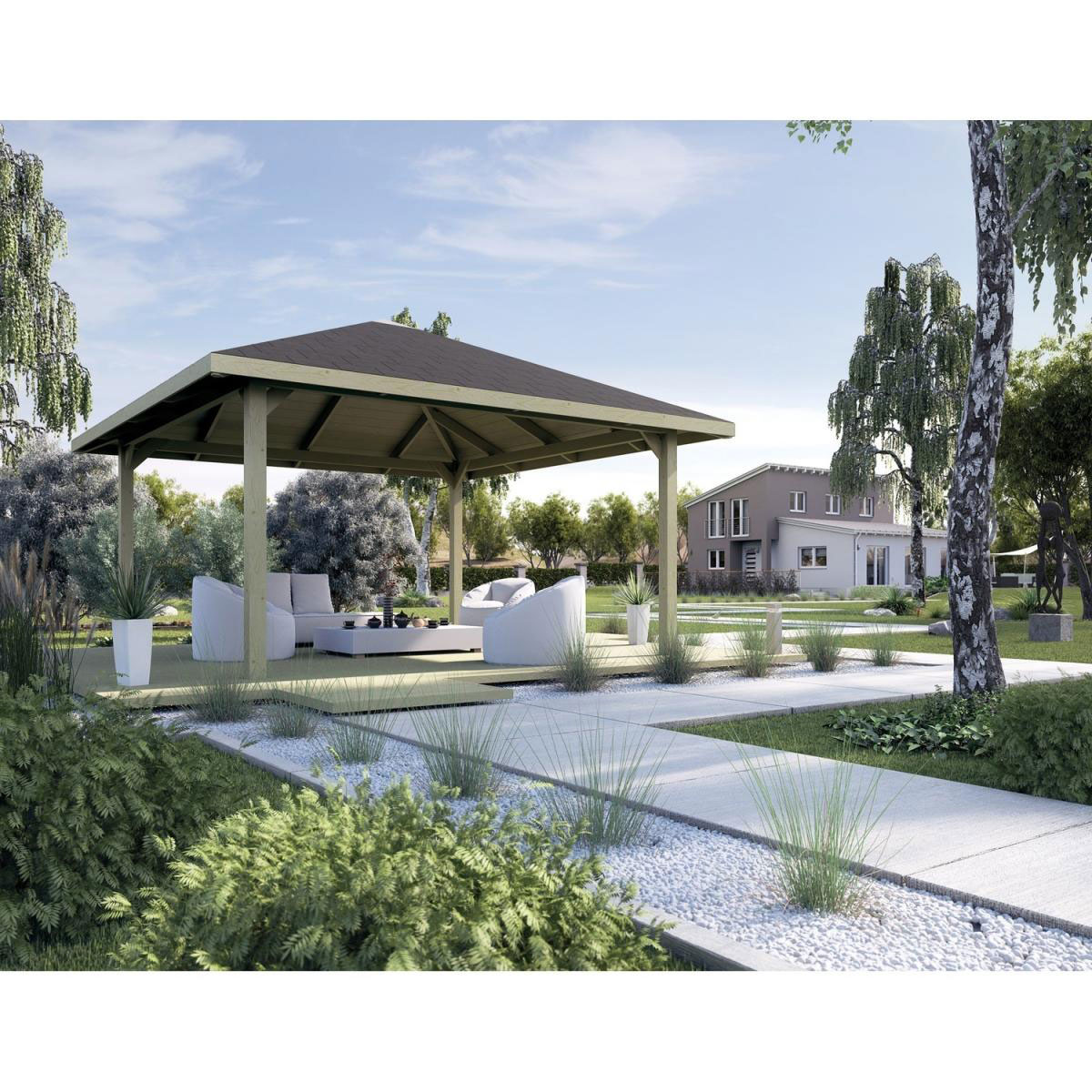 "Pavillons - Holzpavillon ""651 A"" Gr.1 2, 480x480x204 cm 480x480x204 cm  - Onlineshop Hellweg"