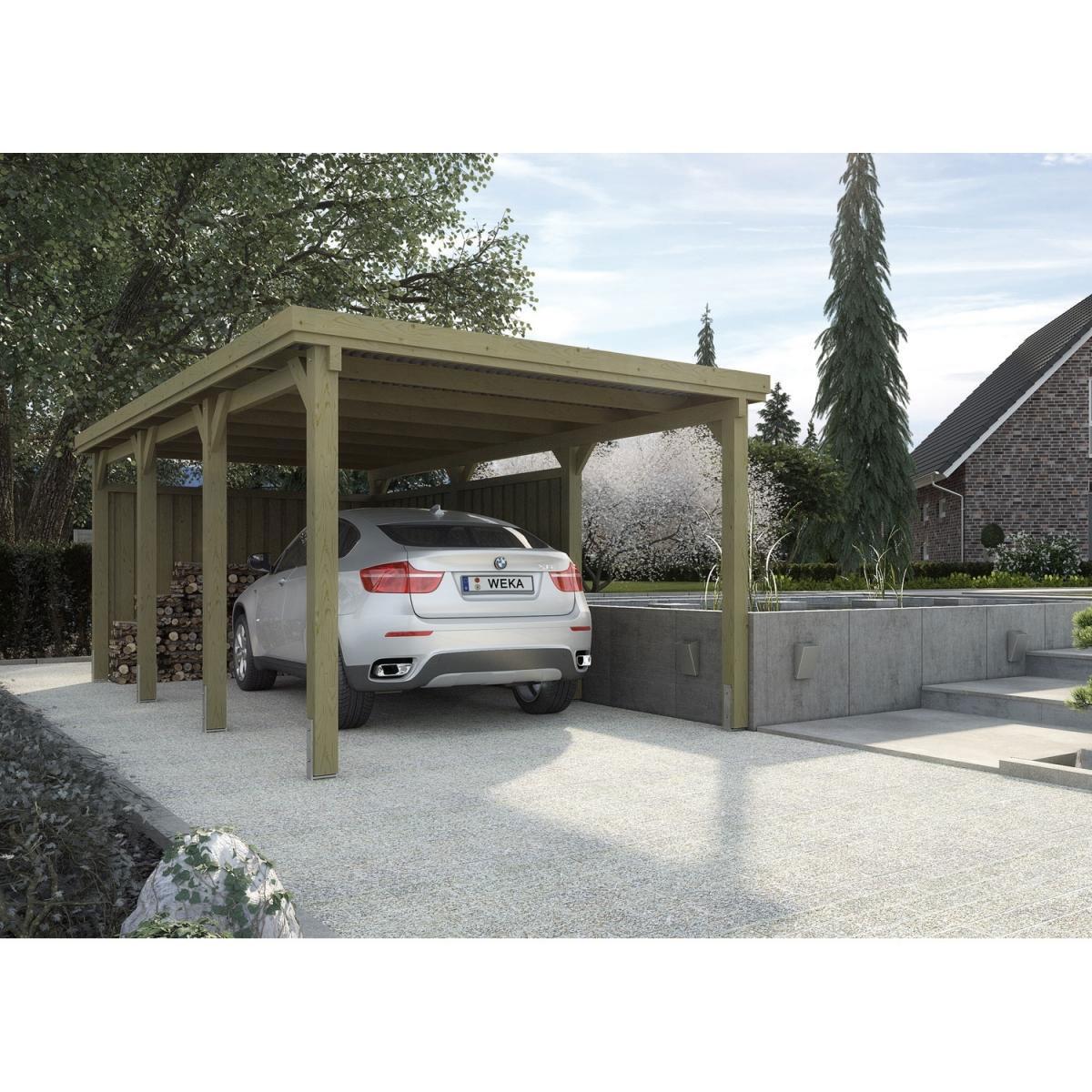 """Carports - Flachdach Einzelcarport """"617"""" 270x576 cm  - Onlineshop Hellweg"""
