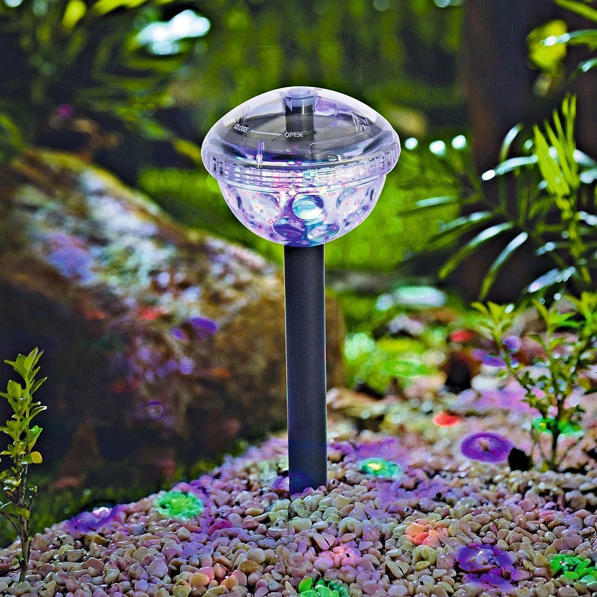 "Solarleuchten - LED Solar Dekostick ""Disco"" 10x34 cm, Kunststoff  - Onlineshop Hellweg"