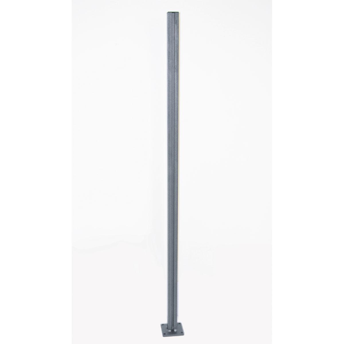 Durabil Universalpfosten für Glaswindschutz, Aluminium