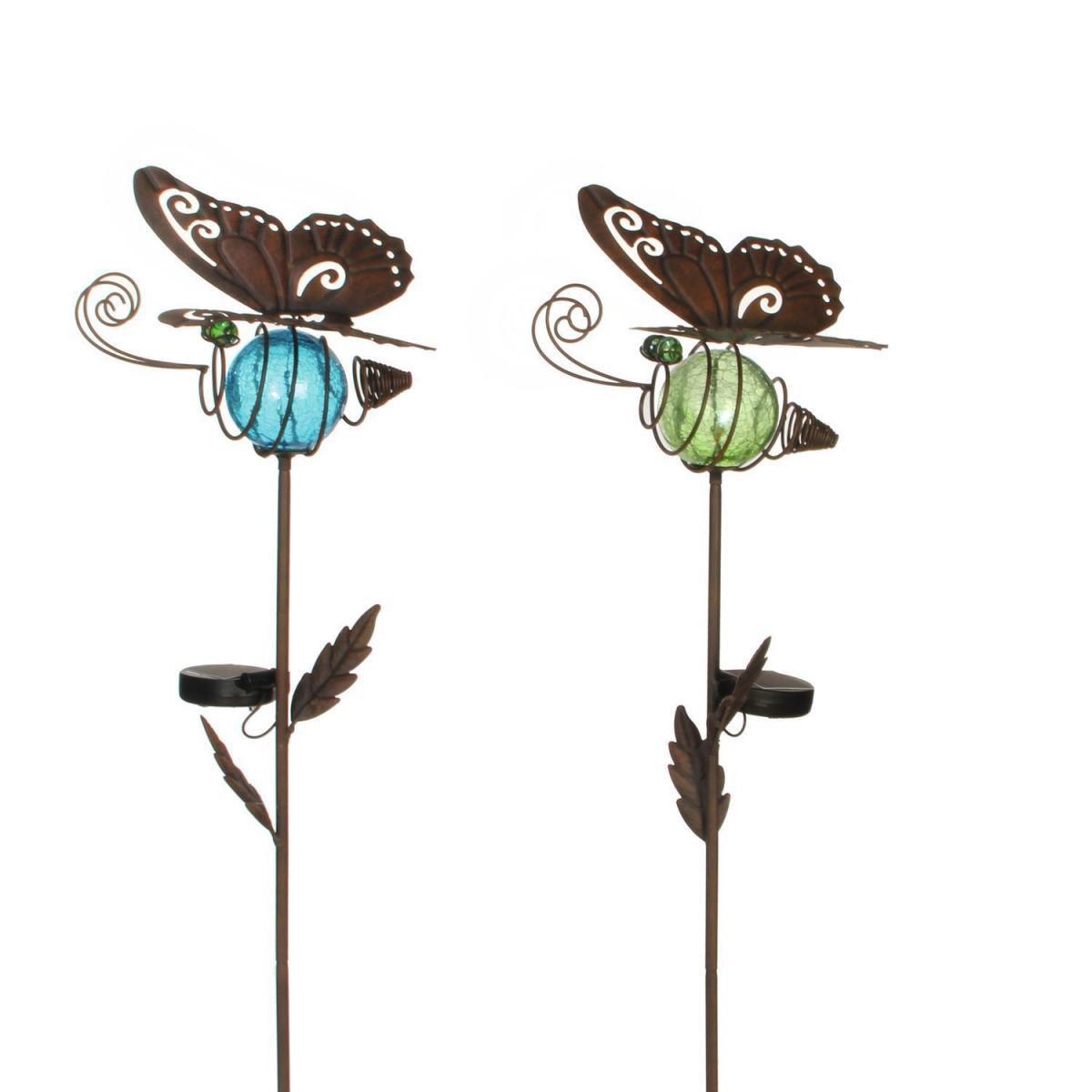 Solarleuchten - Solar Gartenstecker Schmetterling, verschiedene Farben  - Onlineshop Hellweg