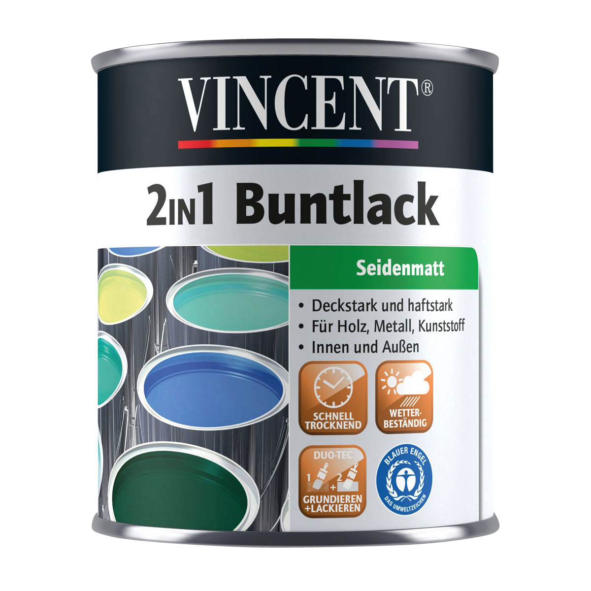 Vincent 2in1 Buntlack ockerbraun