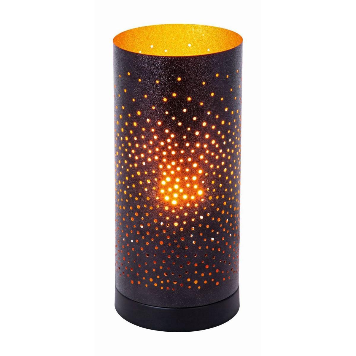 """Stehleuchten - LED Tischleuchte """"Kamina"""", schwarz gold, 12x27 cm  - Onlineshop Hellweg"""