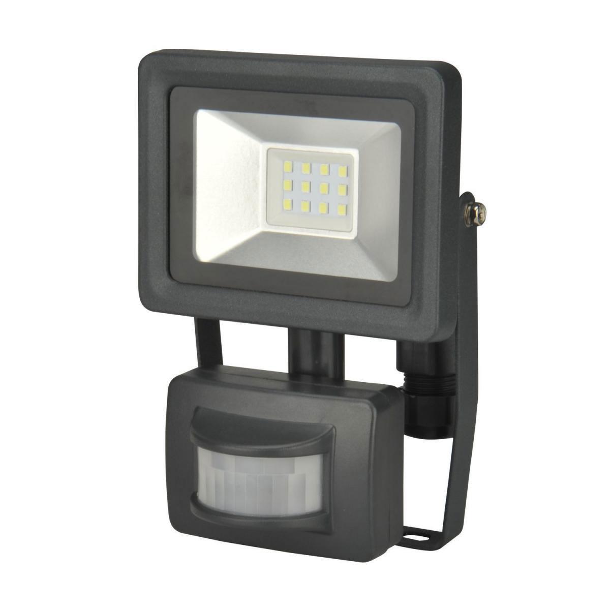 LED Strahler 10w Bewegungsmelder XQ-Lite 800 Lumen Gehäuse schwarz