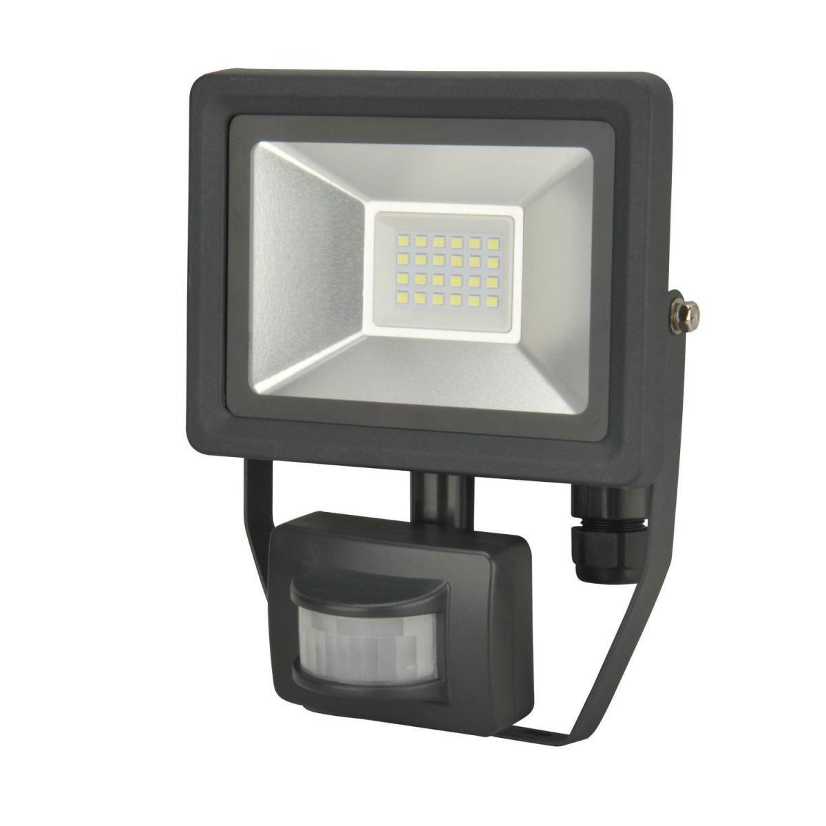 /Strahler LED theleda E20/WH Bewegungsmelder 180o wei/ß 12/m Theben 1020913/