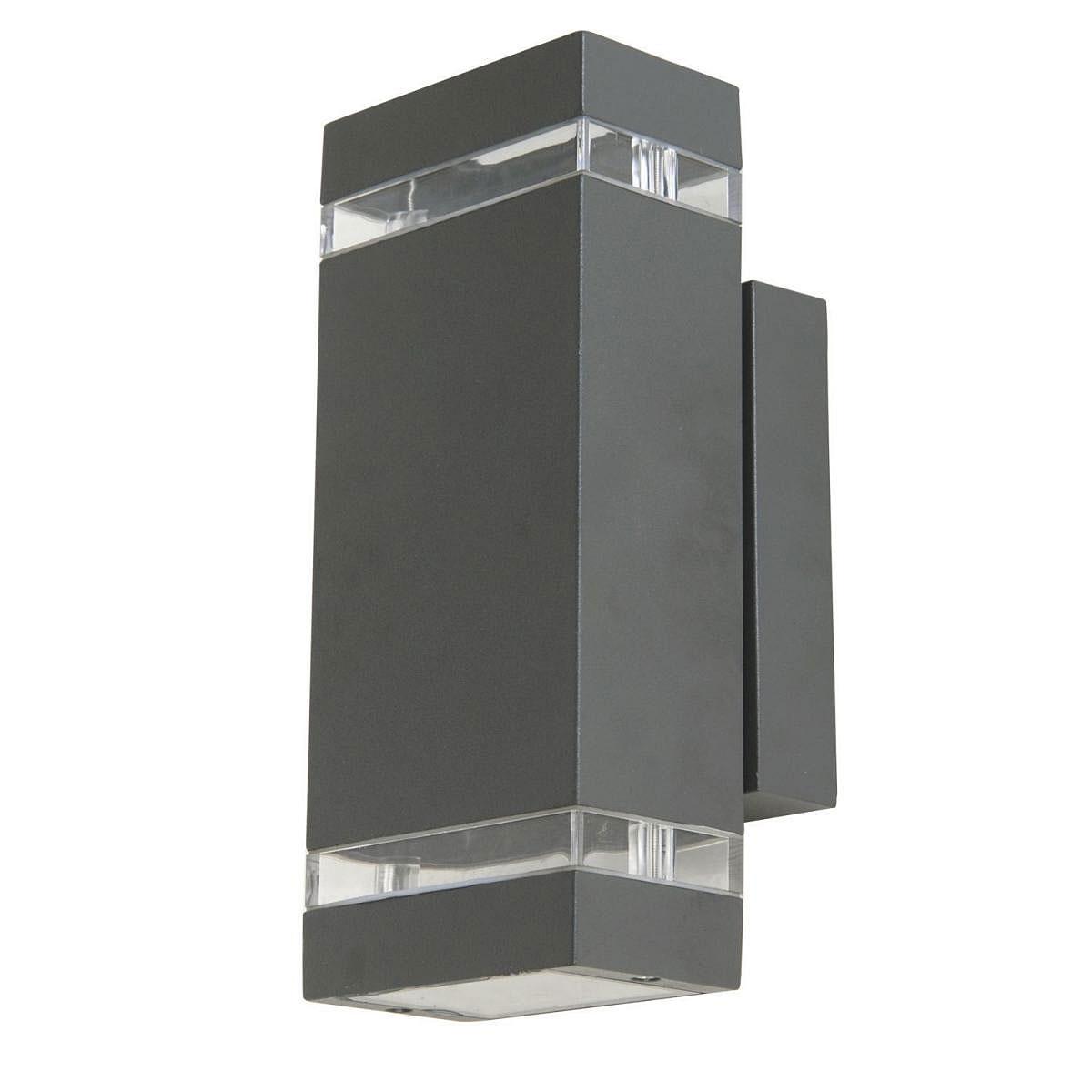 """Außenwandleuchten - LED Außenwandleuchte """"Focus"""", quaderförmig, mit up and downlight  - Onlineshop Hellweg"""