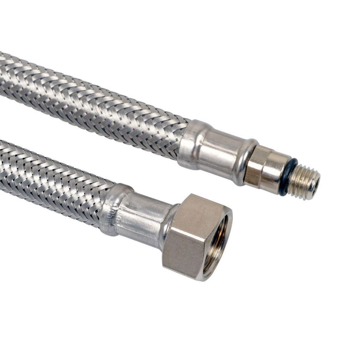 Flexible Verbindungsschläuche 1 x Überwurfmutter 1 x Armaturendirektanschluss