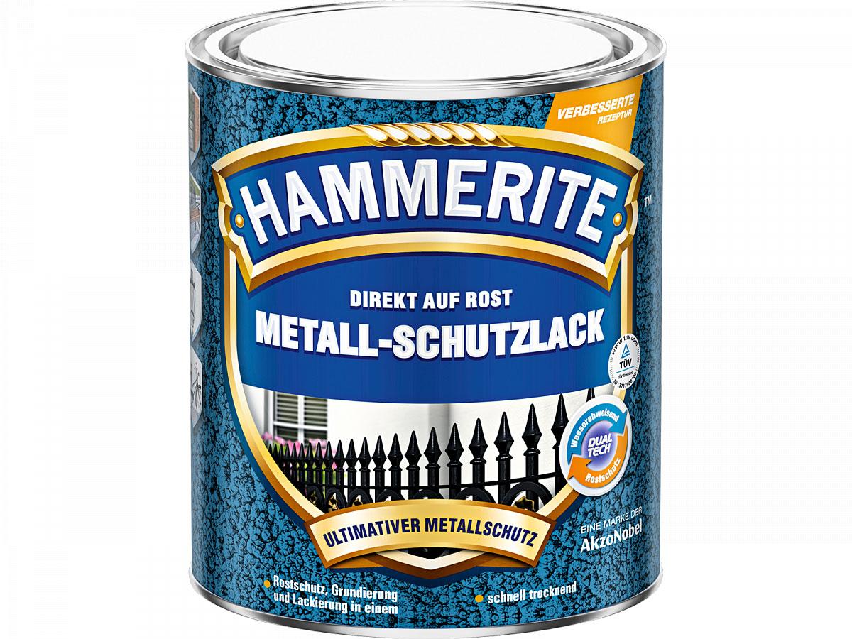 Hammerite Metall-Schutzlack Hammerschlag, schwarz, 750 ml