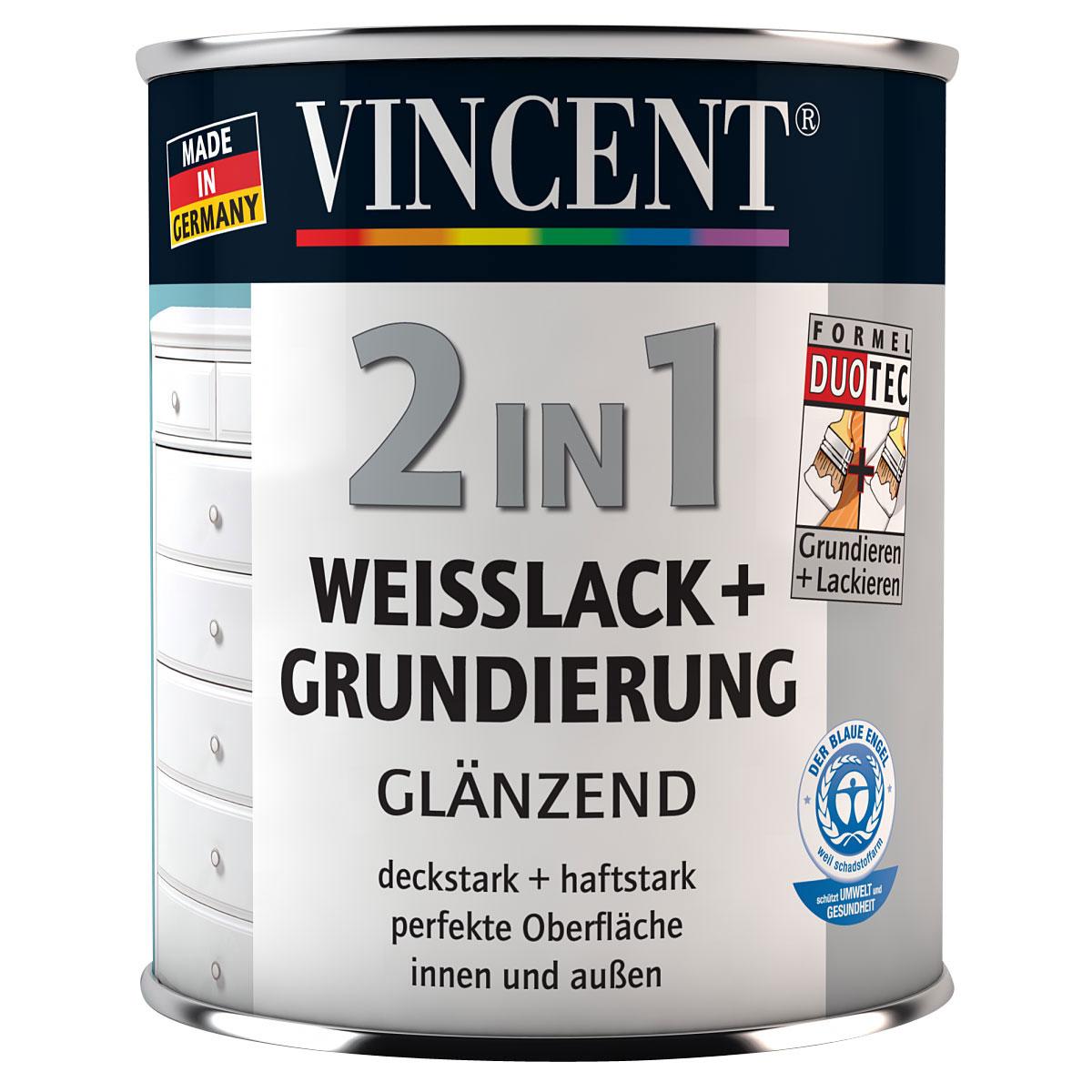 Vincent 2in1 Weisslack + Grundierung