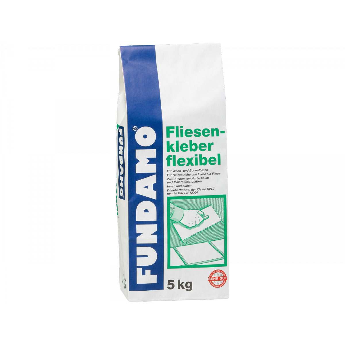Fundamo Fliesenkleber, flexibel 5 kg