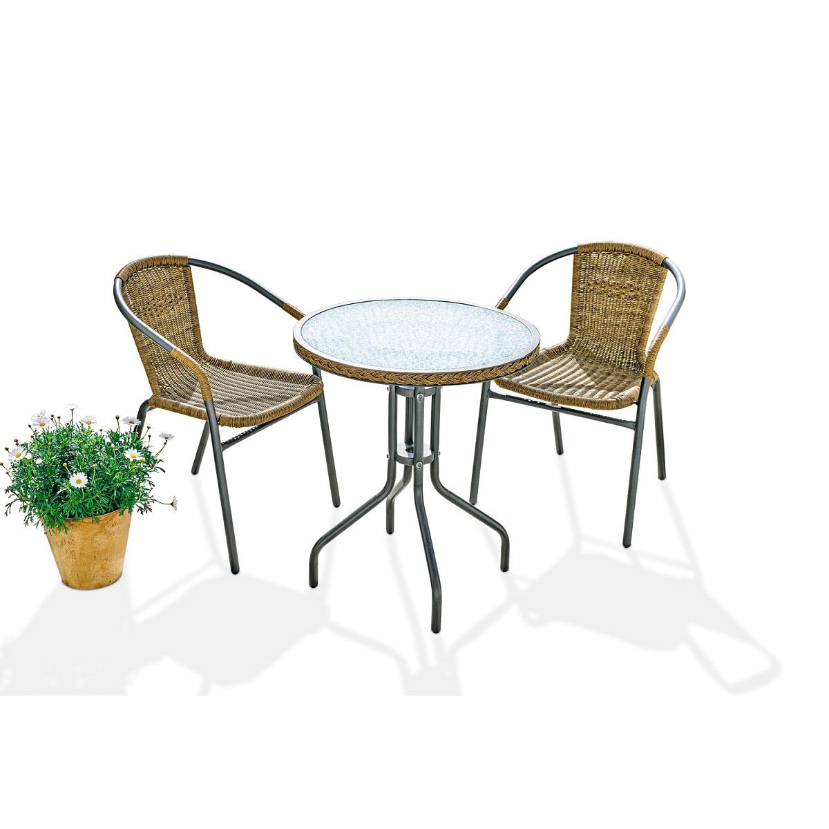 "Gartenmöbel Sets - Balkonset ""Tobago"", 3tlg.  - Onlineshop Hellweg"