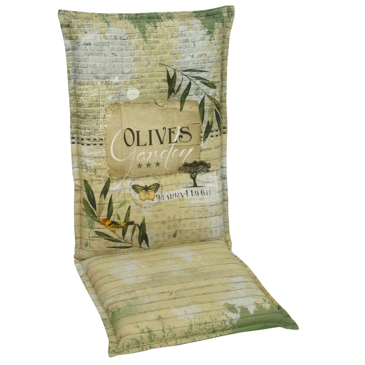"""Truhen und Auflagen - Sessel Auflage hoch """"Desin 2953 Olives"""", 120 cm 120 cm  - Onlineshop Hellweg"""