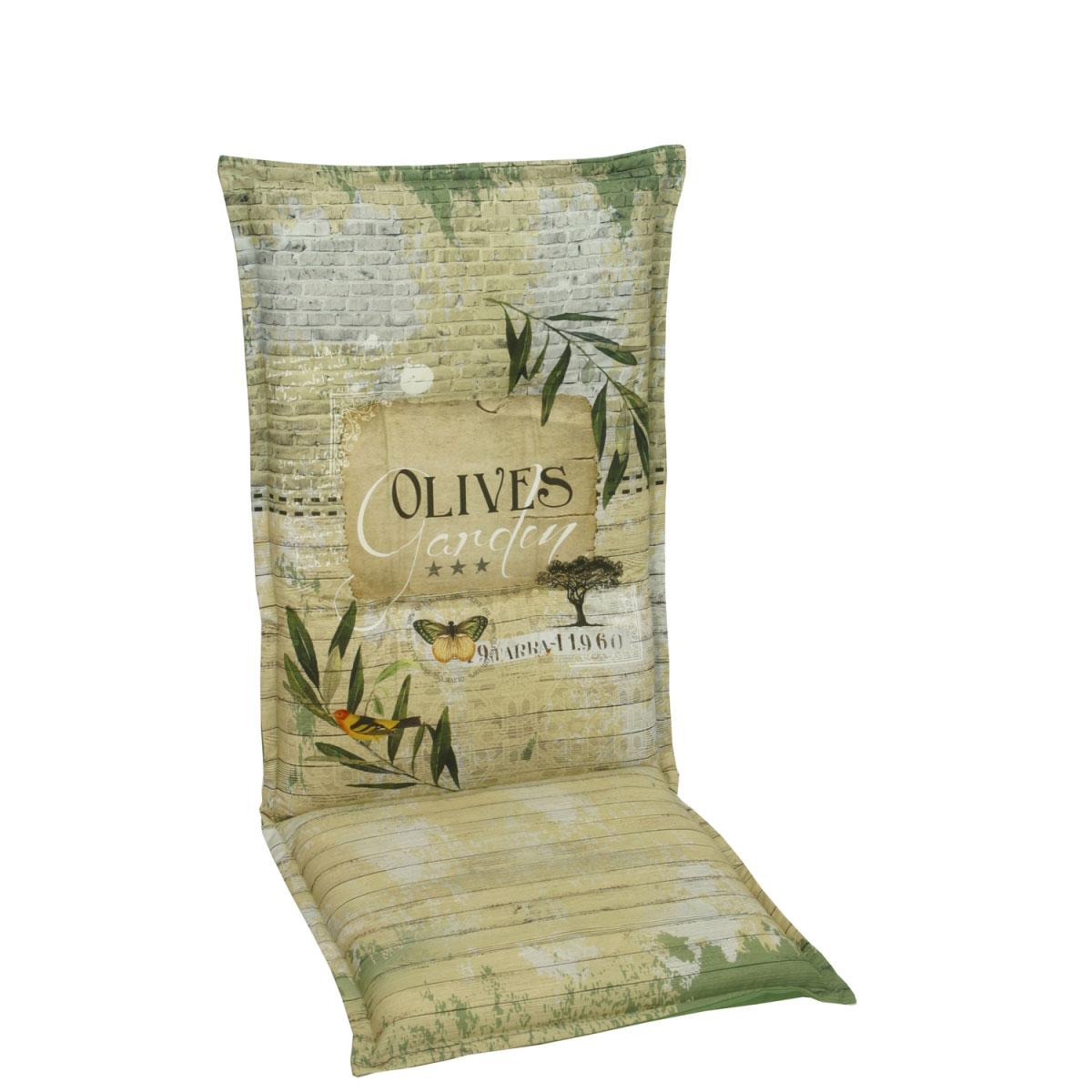 """Truhen und Auflagen - Sessel Auflage hoch """"Desin 2953 Olives"""", 100 cm 110 cm  - Onlineshop Hellweg"""