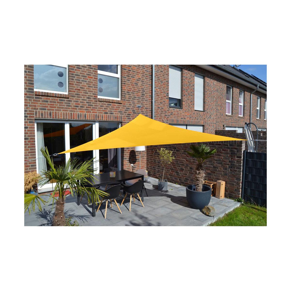 Sonnenschirme und Sonnensegel - Sonnensegel mit Regenschutz 360 cm, sonnengelb  - Onlineshop Hellweg