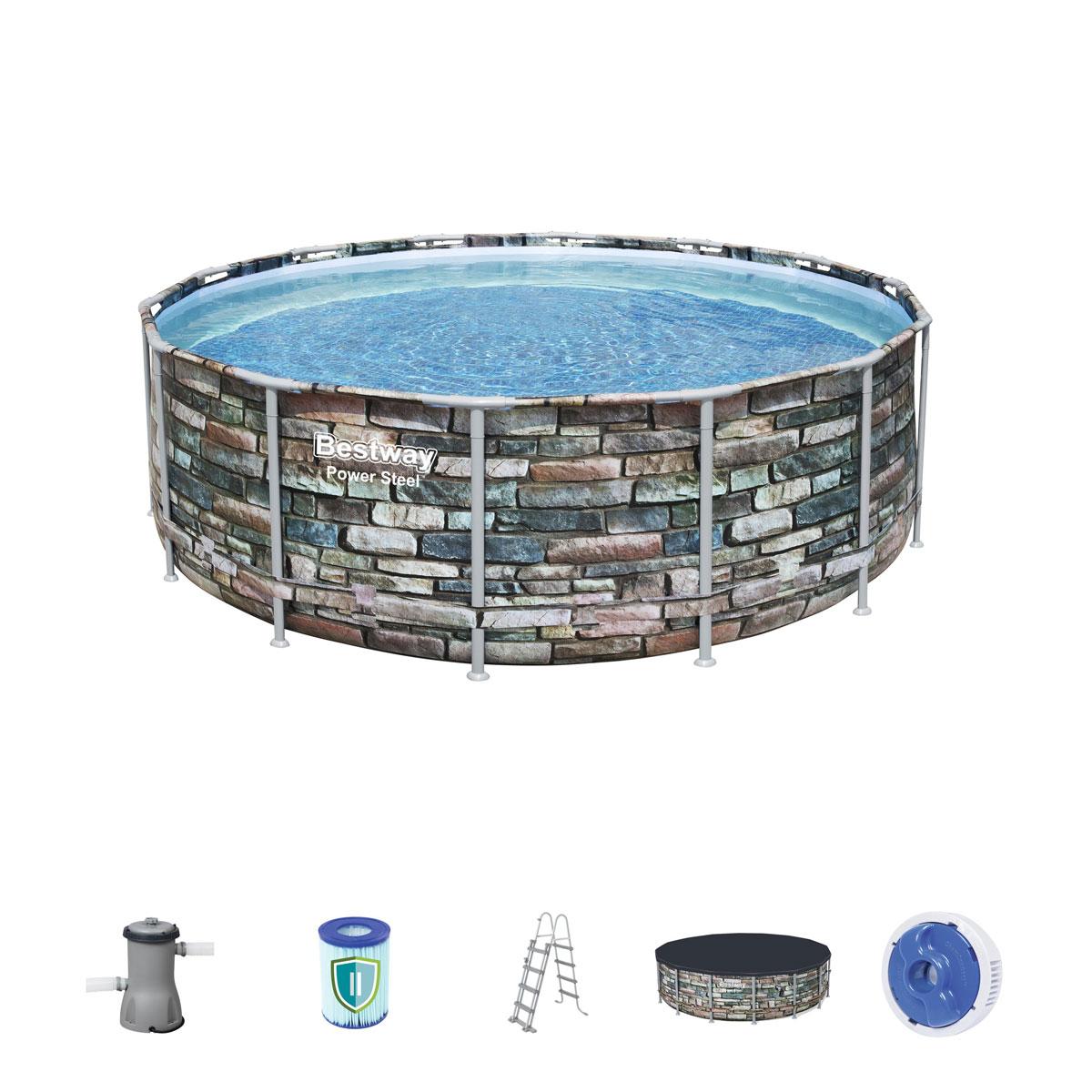 """Pools und Schwimmbecken - Pool Set """"Power Steel"""" 427x122 cm  - Onlineshop Hellweg"""