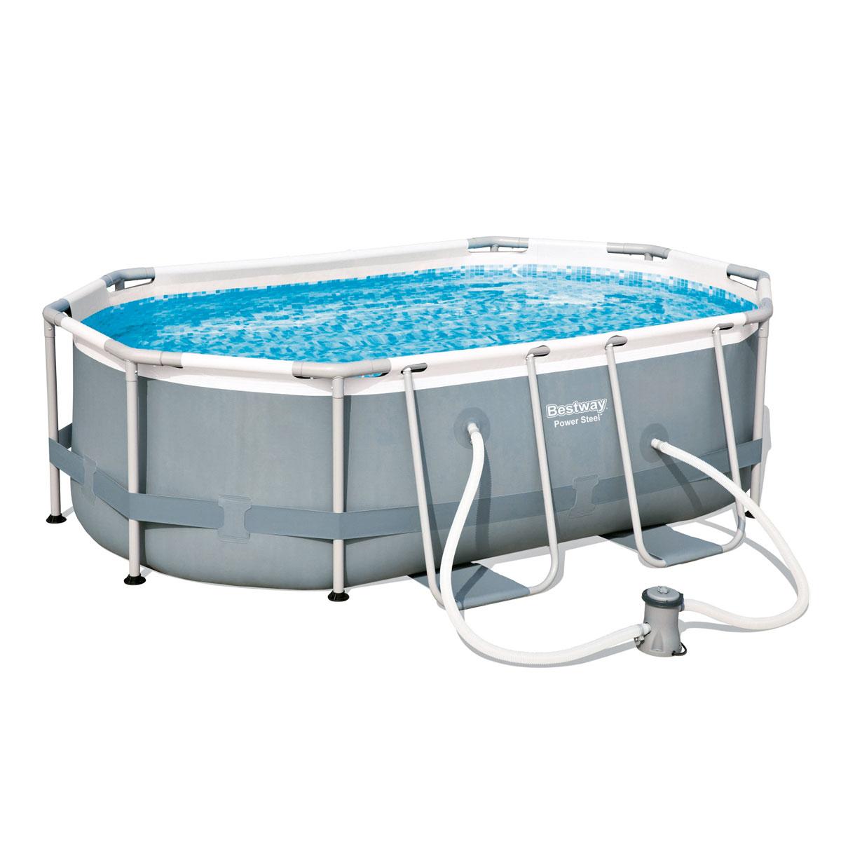 """Pools und Schwimmbecken - Pool Set """"Power Steel"""" 300x200x84 cm, oval  - Onlineshop Hellweg"""