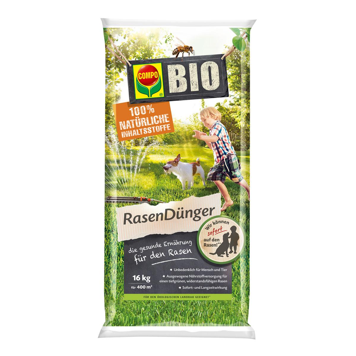 Compo Rasendünger Bio 16 kg, für 400 m²
