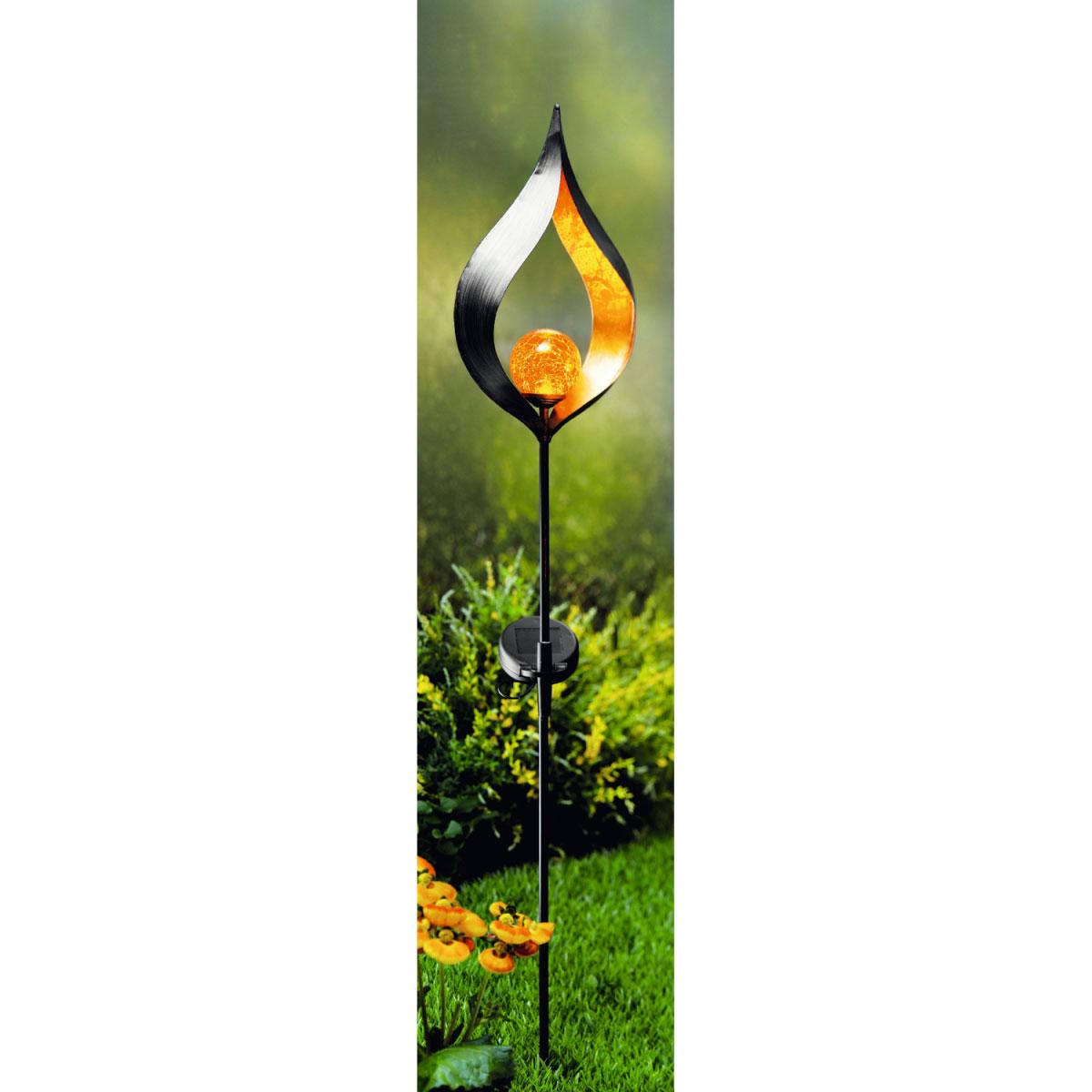 "Solarleuchten - LED Solar Dekostick ""Glowing Eye"", schwarz kupfer  - Onlineshop Hellweg"