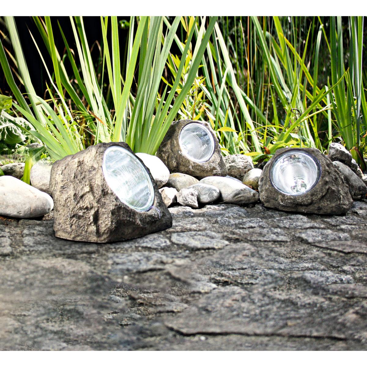 Solarleuchten - LED Solar Steinleuchte, anthrazit  - Onlineshop Hellweg