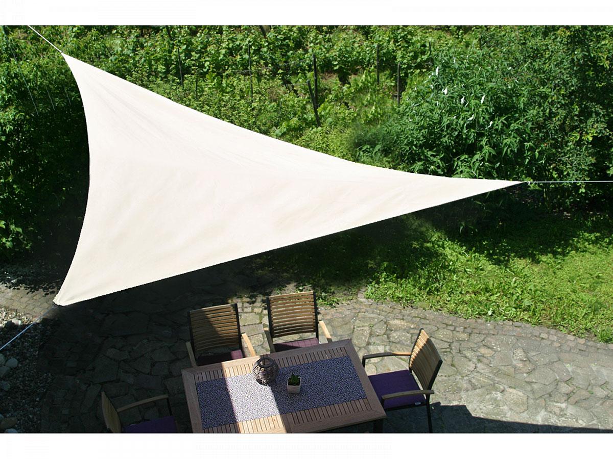 GO-DE Sonnensegel Natur 3 m