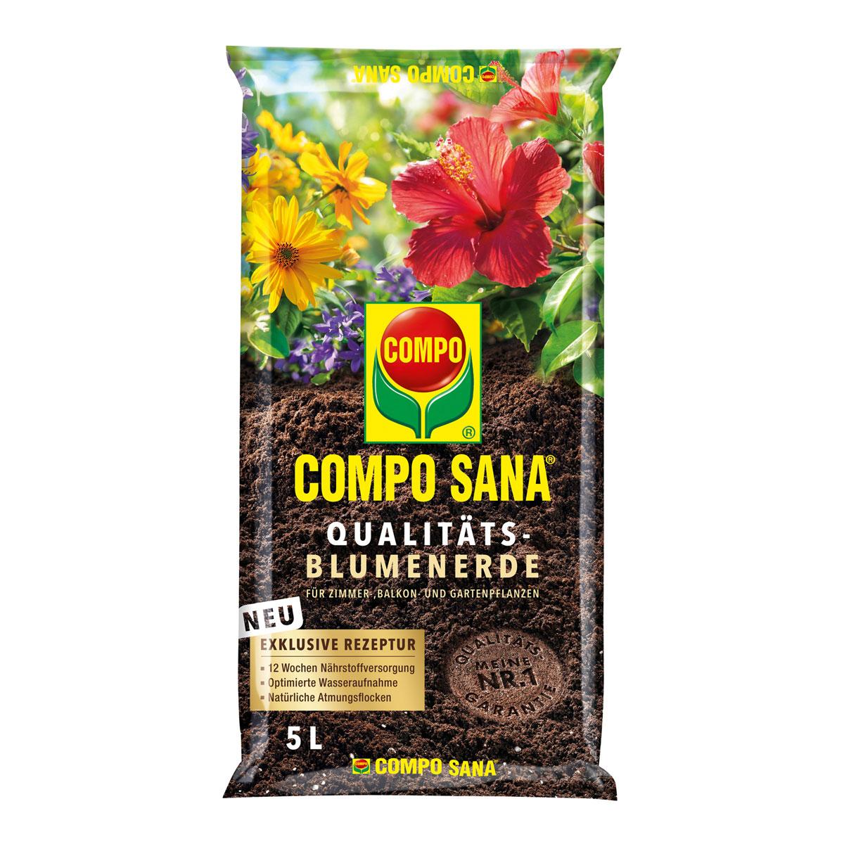 Compo SANA® Qualitäts-Blumenerde 5 L 5 L