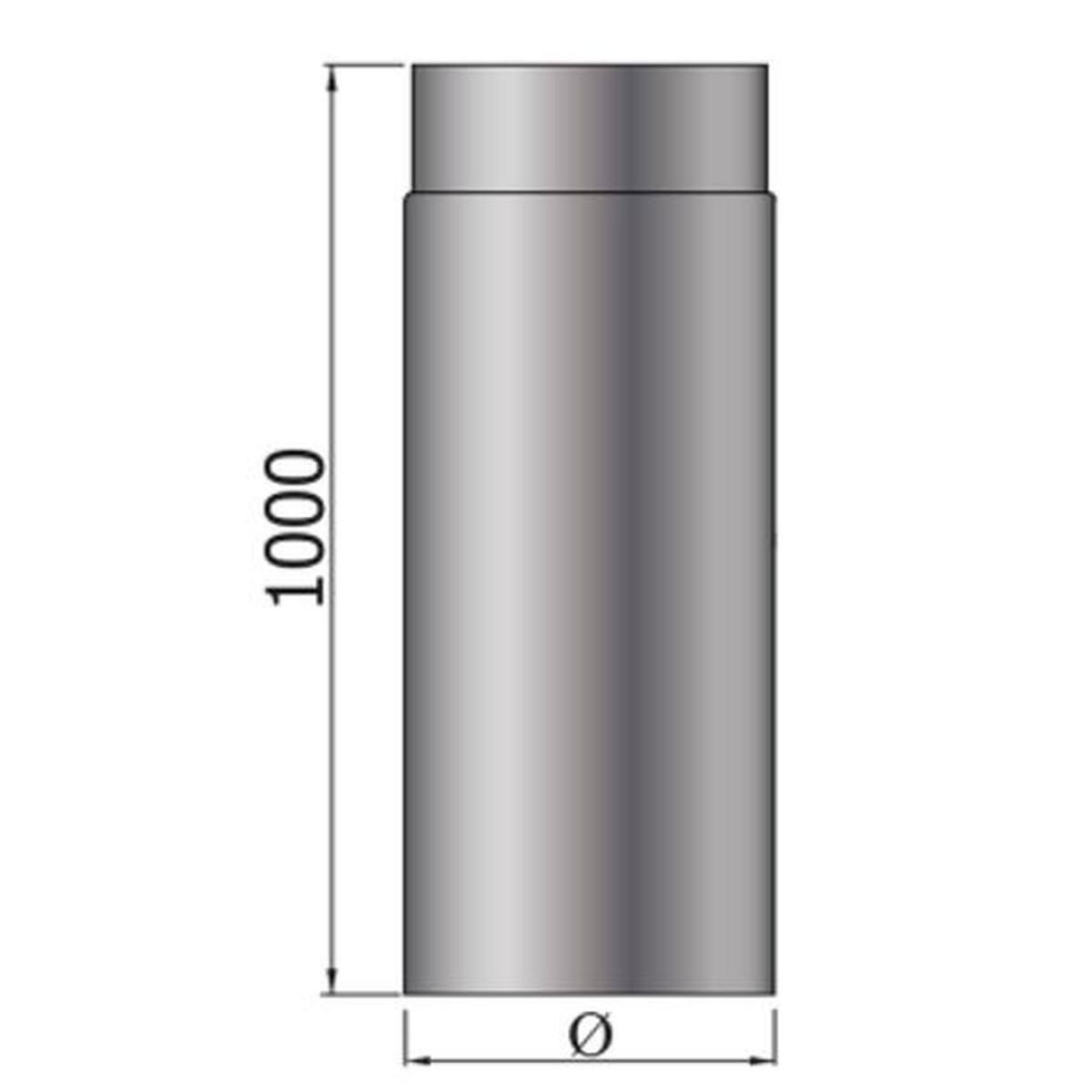 Color Emajl Rauchrohr ß 150 mm grau