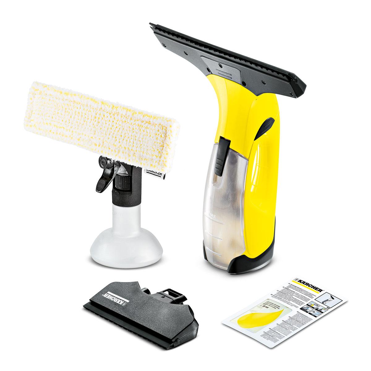 Fensterreiniger WV 5 Premium Non-Stop Cleaning Kit Fenstersauger WV 5 Plus vhbw Ladeger/ät passend f/ür K/ärcher WV 2 Premium Plus WV 5 Premium