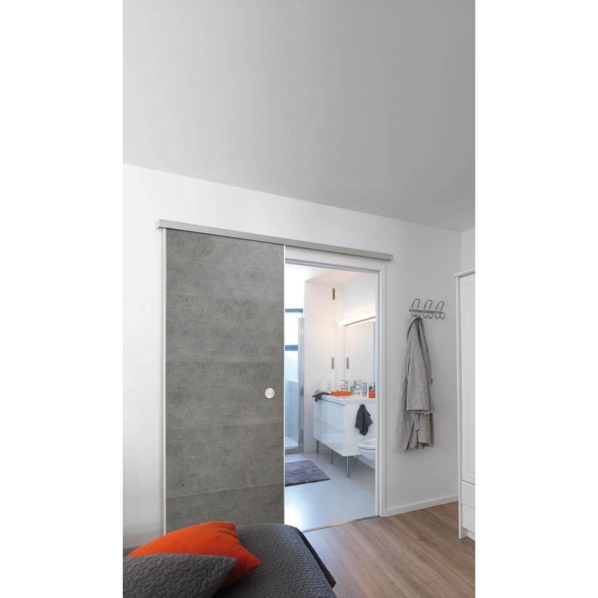 """Grosfillex Schiebetür """"DoorInBox"""", 87x217 cm, Beton"""