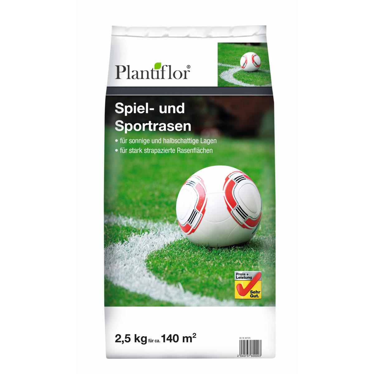 Plantiflor Spiel- und Sportrasensamen, 2,5kg