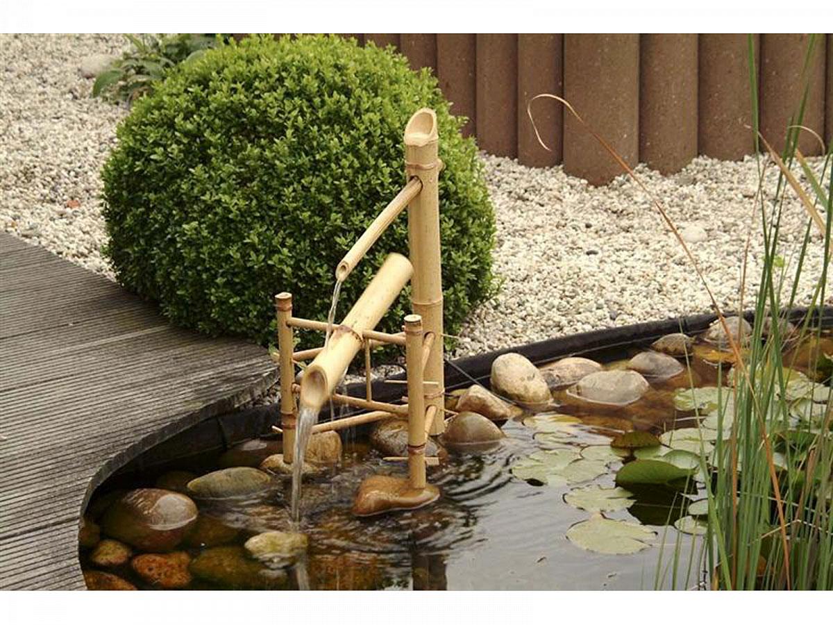 """Gartendekoration - Gartenbrunnen """"Bamboo""""  - Onlineshop Hellweg"""