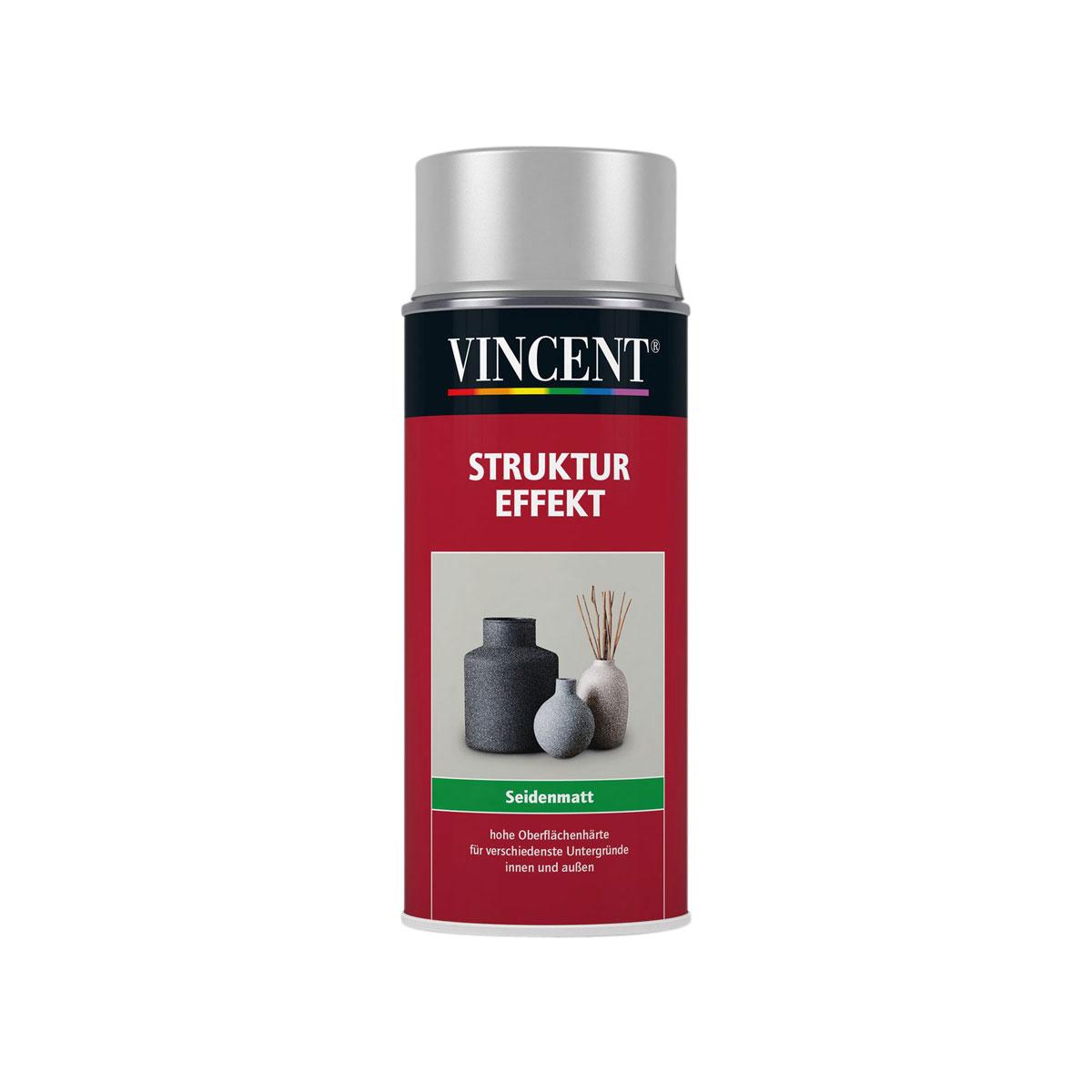 Vincent Struktur Effekt seidenmatt silber 400 ml