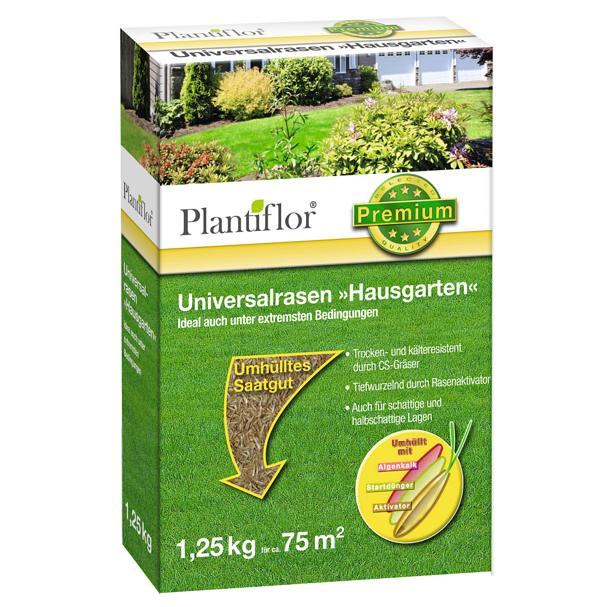 """Plantiflor Universalrasen """"Hausgarten"""", 1,25 kg"""