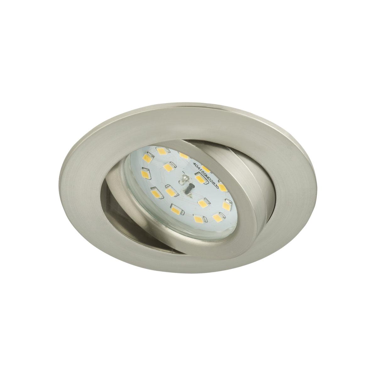 Deckenleuchten - LED Einbauleuchte, schwenkbar, matt nickel, rund  - Onlineshop Hellweg