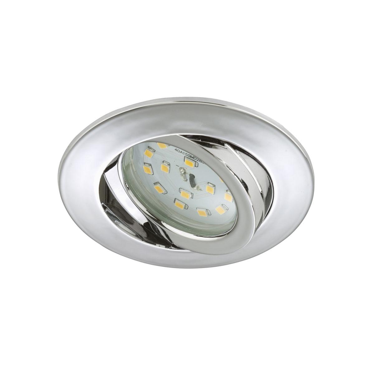 Deckenleuchten - LED Einbauleuchte, schwenkbar, chrom, rund  - Onlineshop Hellweg
