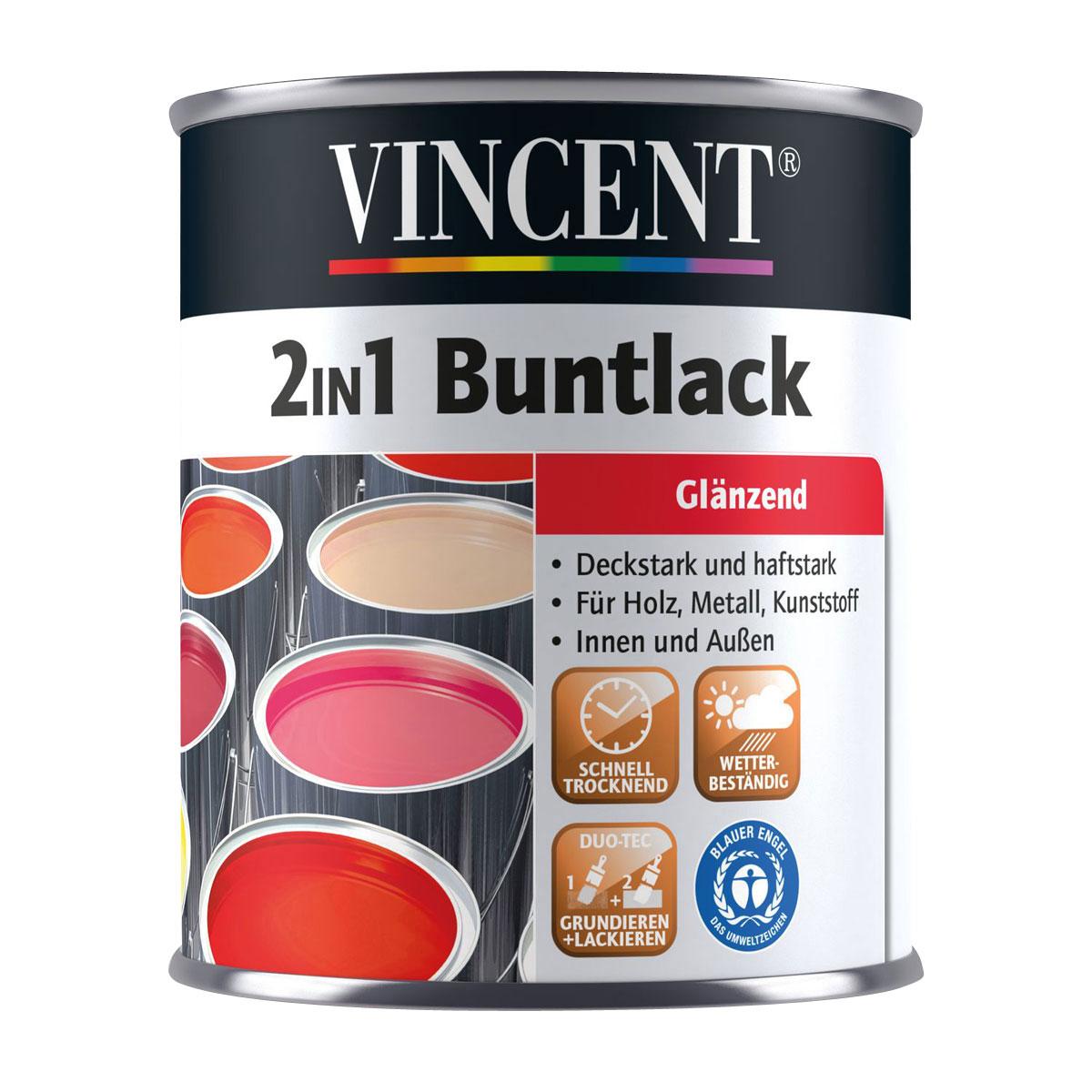 Vincent 2in1 Buntlack silbergrau